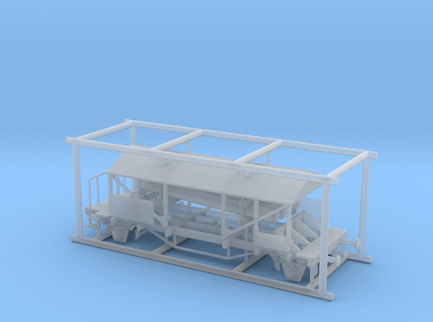 Sauerstoffbatteriewagen in Smooth Fine Detail Plastic