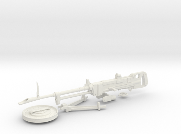 Vickers K LMG in 1/6 scale in White Natural Versatile Plastic