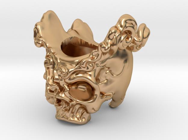 Skull Cigar Holder in Polished Bronze