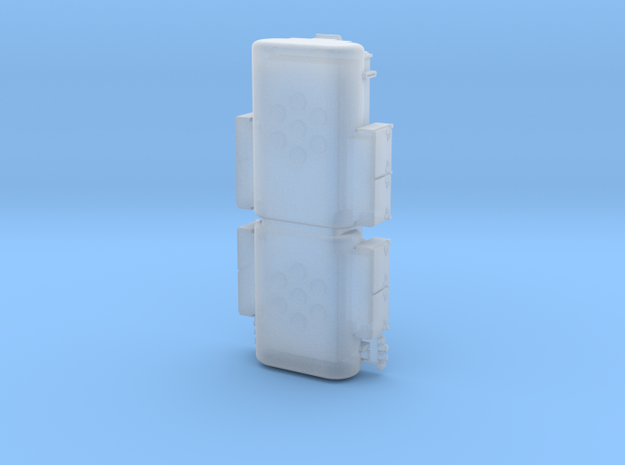 DSB MZ1 Bottom boxes and fuel tanks TT scale in Smooth Fine Detail Plastic