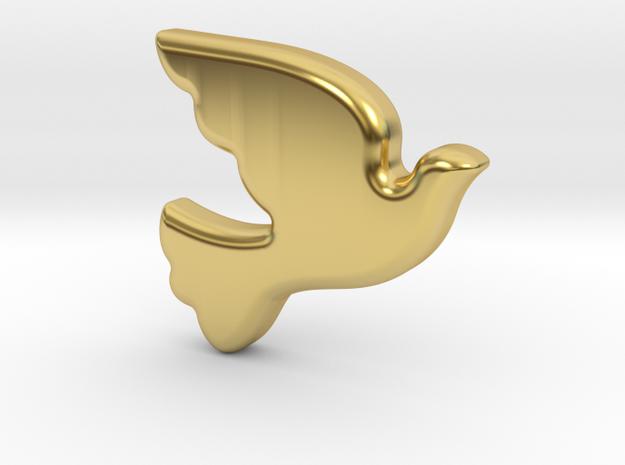 Bird-Dove in Polished Brass