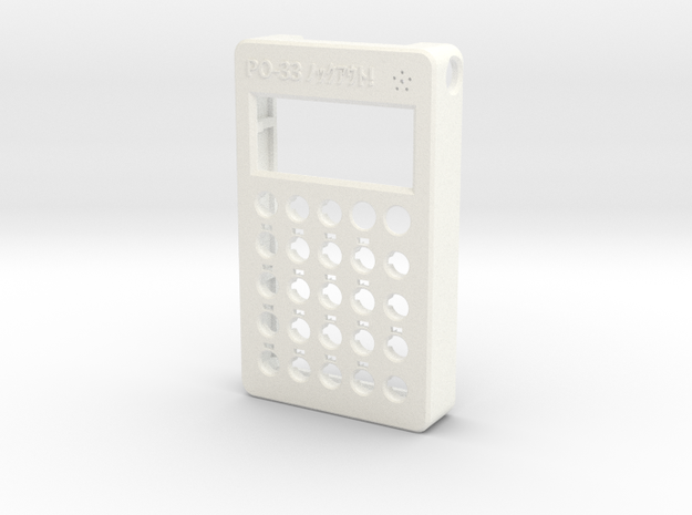 "PO-33 case front ""ノックアウト!"" in White Processed Versatile Plastic"