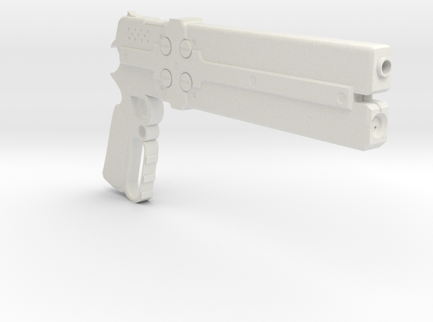 1/3rd Scale Cerberus Gun in White Natural Versatile Plastic