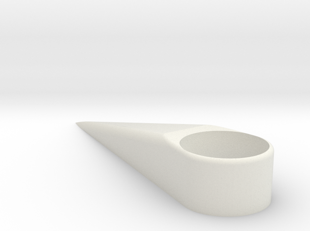 M8x12mm Aerodynamic Bolt Cover in White Natural Versatile Plastic