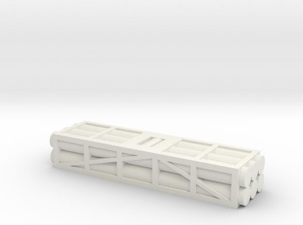 1 to 200 MLRS pod single pod in White Natural Versatile Plastic