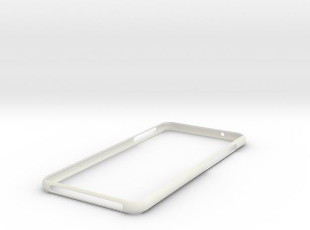 Huawei p20 Lite Bumper in White Natural Versatile Plastic