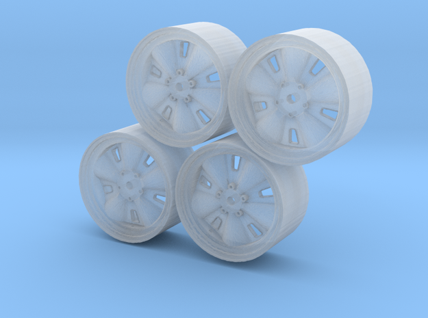 Set of four Chapparral 1 wheels in Smoothest Fine Detail Plastic