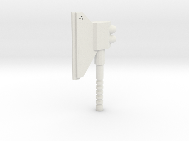3mm Powered Axe in White Natural Versatile Plastic