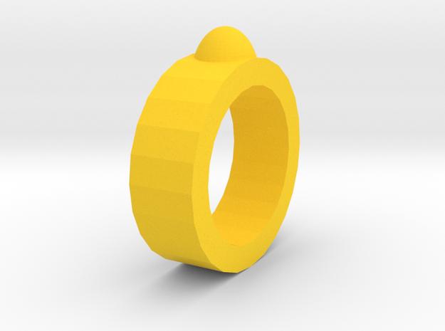 Massage ring in Yellow Processed Versatile Plastic