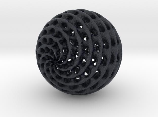 Diamond Sphere in Black Professional Plastic