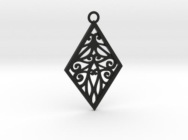 Tiana pendant in Black Natural Versatile Plastic: Large