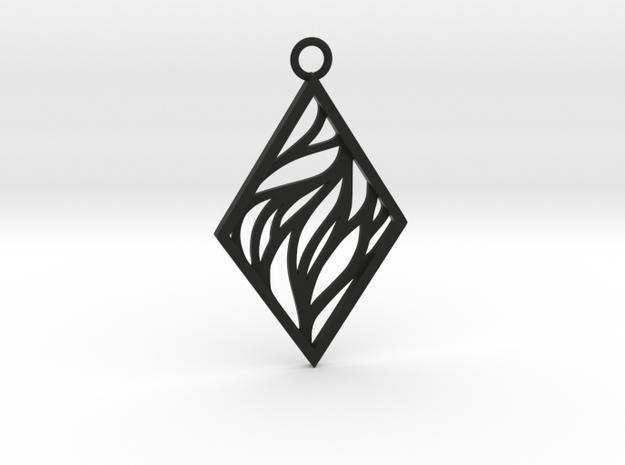 Aethra pendant in Black Natural Versatile Plastic: Large
