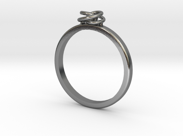 Twirl Ring in Polished Silver