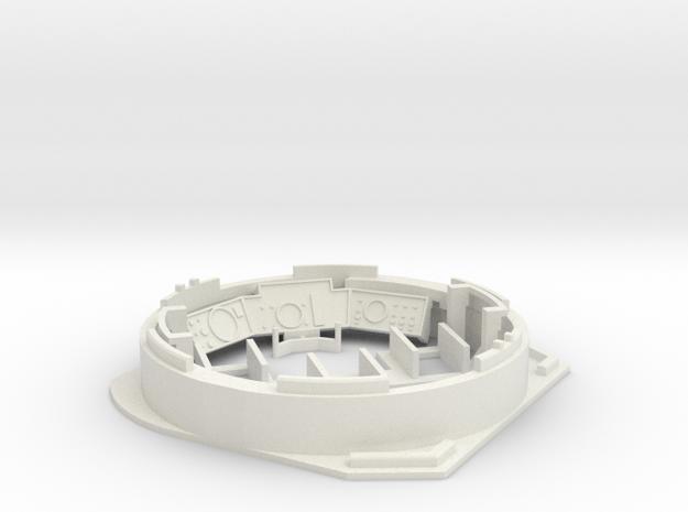 Leopard1_DT_turret_1_16_pt2of4 in White Natural Versatile Plastic