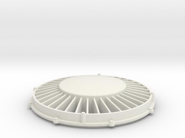"1"" scale 4.75"" gauge F7 Diesel 36"" Fan in White Natural Versatile Plastic"