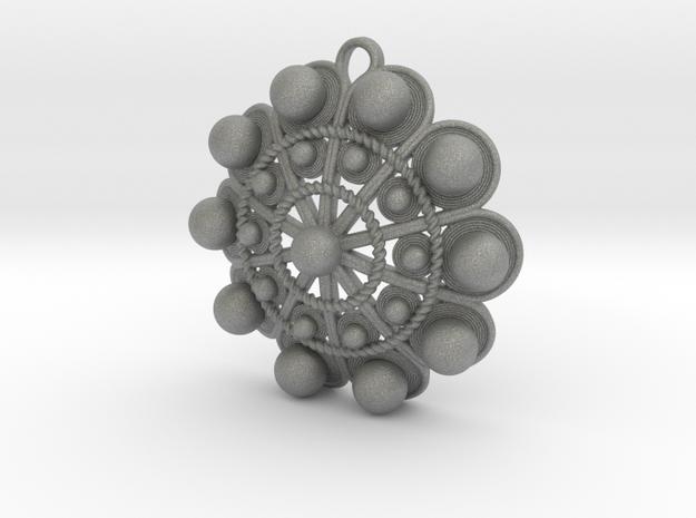 """Charro Pendant, 40mm (1.6"""") in Gray PA12"""