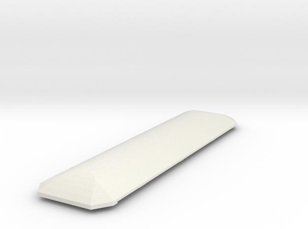 Wagendach in Tonnenform in White Natural Versatile Plastic