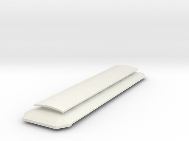 Bemo_Wagendach Laterne C4i - 6 Fenster in White Natural Versatile Plastic