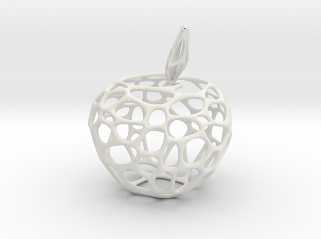 Voronoi Apple in White Natural Versatile Plastic