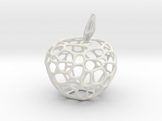 Voronoi Apple in White Natural Versatile Plastic