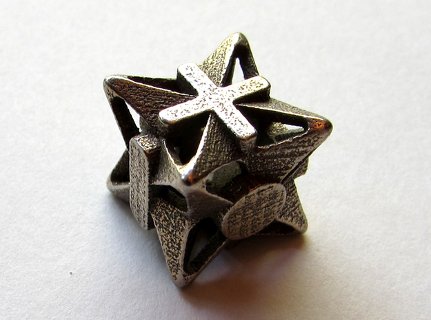 Fudge Pinwheel Die6 3d printed In stainless steel