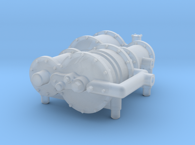 O scale Air Compressor in Smooth Fine Detail Plastic