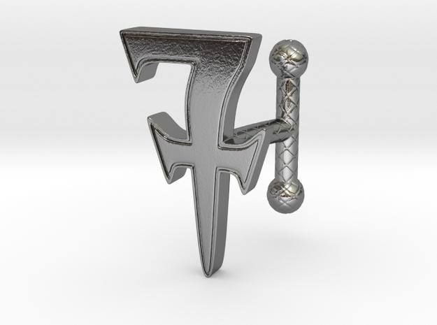 Cufflink_R_001 in Polished Silver