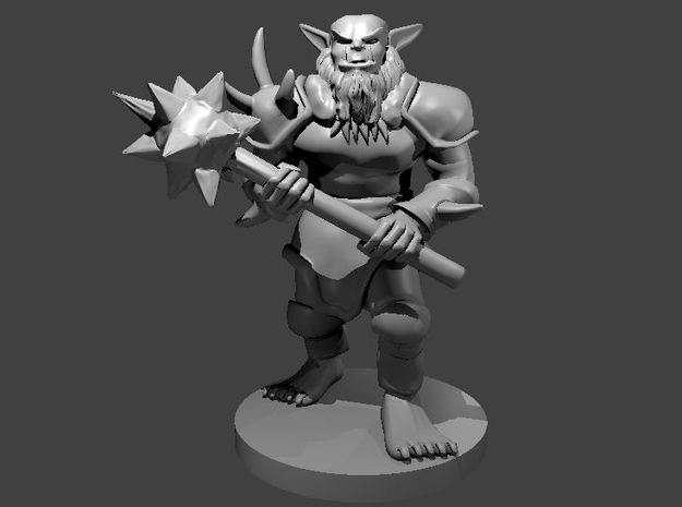 Bugbear with a Morningstar in Smooth Fine Detail Plastic