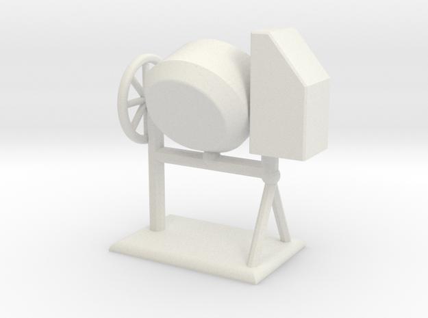 Zementmischmaschine Betonmischer Zementmischer 1:1 in White Natural Versatile Plastic