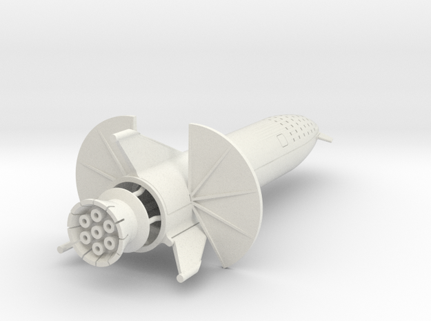 Starship Transit to Moon in 500 in White Natural Versatile Plastic