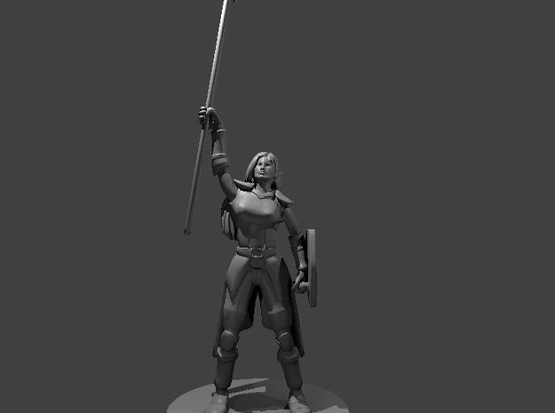Female Elven Storm Cleric in Smooth Fine Detail Plastic