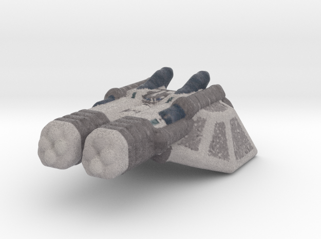 Cruiser spaceship color in Natural Full Color Sandstone