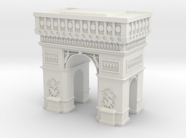Arc de Triomphe  in White Natural Versatile Plastic