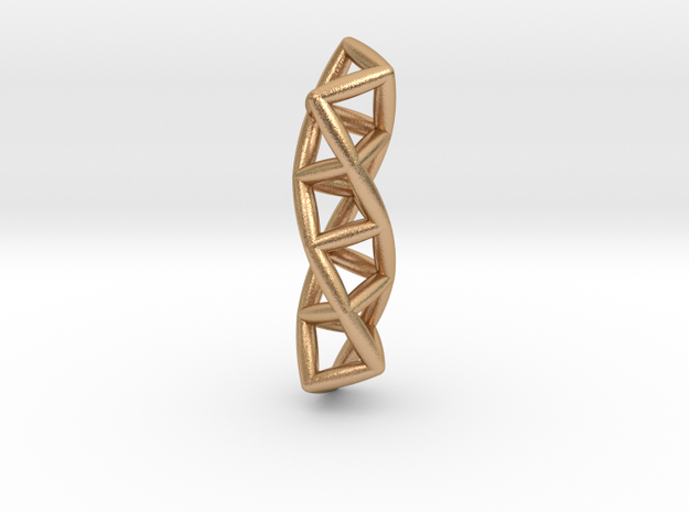 Four Membered Rings Helix in Natural Bronze