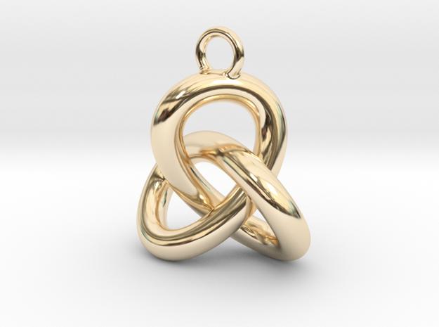 Trefoil Knot Earring in 14k Gold Plated Brass