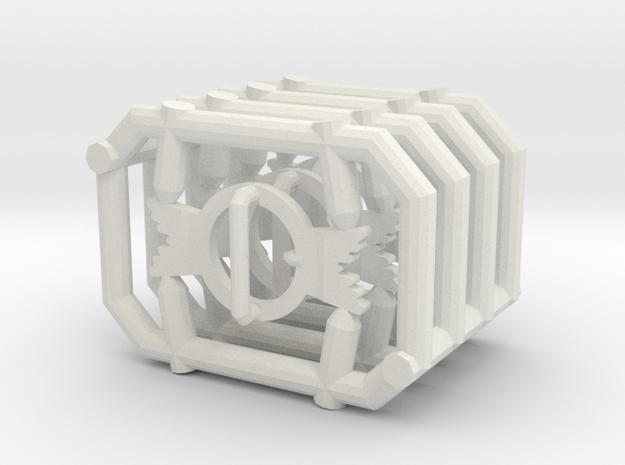 1:6 BUCKLE X4 in White Natural Versatile Plastic