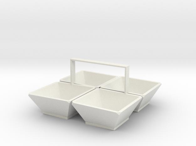 Snack box in White Natural Versatile Plastic
