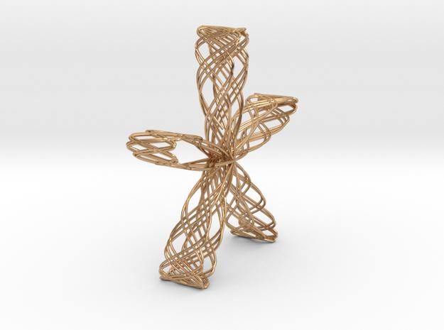 Rose Jewel Pendant(2) in Polished Bronze
