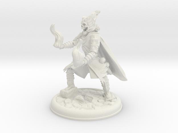 SKeleton Mage Pose 2 in White Natural Versatile Plastic