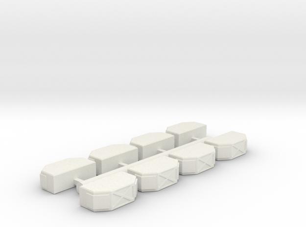 Cargo_Pods_4 in White Natural Versatile Plastic