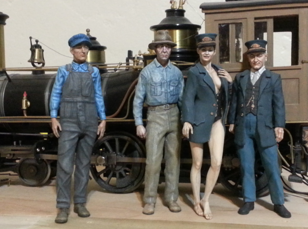 1:20.32 scale Cy Crumley standing  in Smooth Fine Detail Plastic
