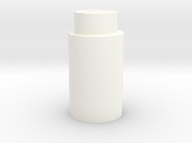 Stamp handle in White Processed Versatile Plastic