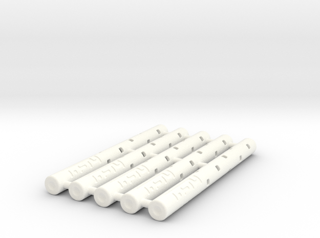 Adapters: Multiple Zebra F To D1 Mini (x5) in White Processed Versatile Plastic