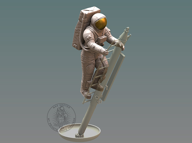 Apollo Astronaut / Ladder 1:12 in White Natural Versatile Plastic