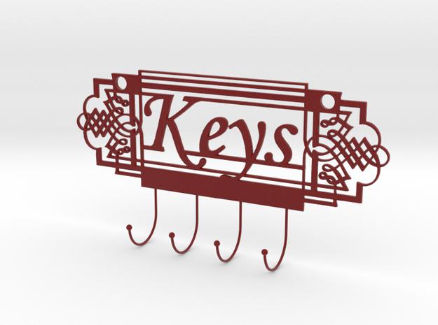 Keys Holder in Matte Full Color Sandstone