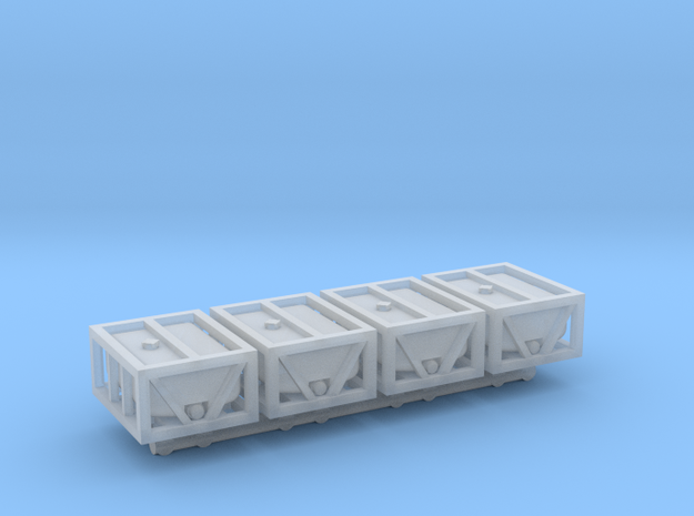 1/87 Scale Water/Liquid Crates x4 in Smooth Fine Detail Plastic