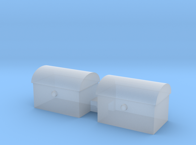 tool box 7mm high 7mm deep 10mm long in Smooth Fine Detail Plastic