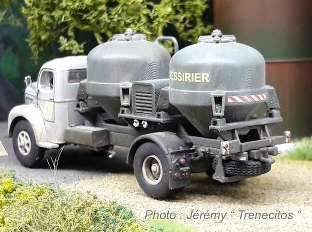 Bulk tank - Silo à ciment - Berliet GLR - HO 1:87 in Smooth Fine Detail Plastic