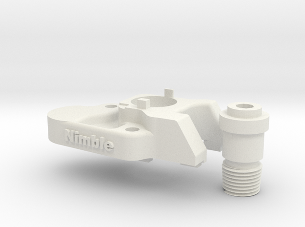 CR-10 Mount  for the Nimble in White Natural Versatile Plastic