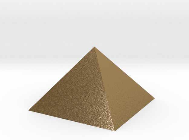 PYRAMID golden Merkaba in Polished Gold Steel